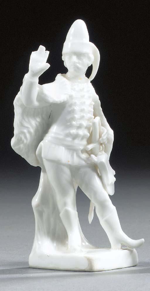 A German porcelain white figur