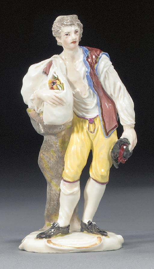 A Ludwigsburg figure of an app