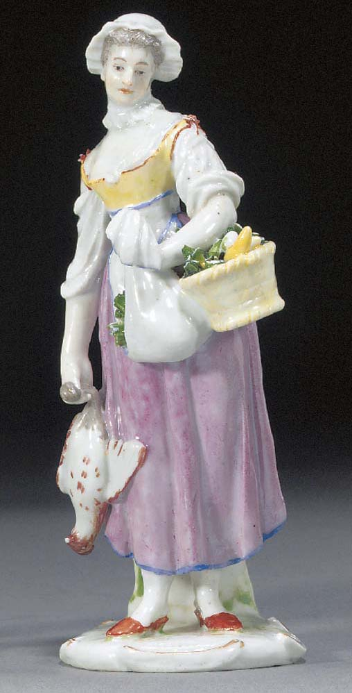 A Ludwigsburg figure of a stre