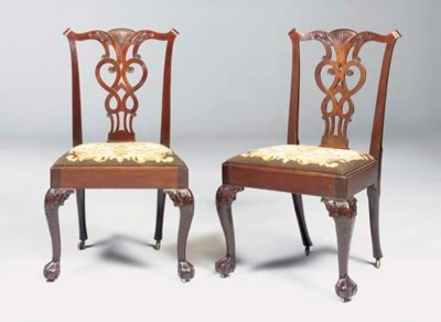 A PAIR OF IRISH GEORGE III MAH