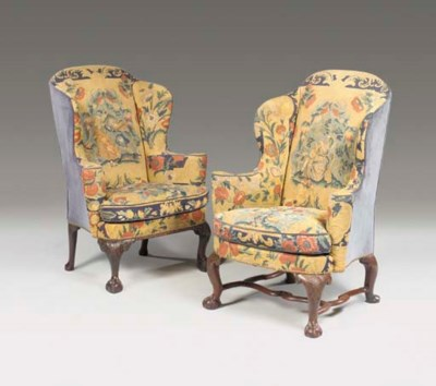A MATCHED PAIR OF GEORGE II MA