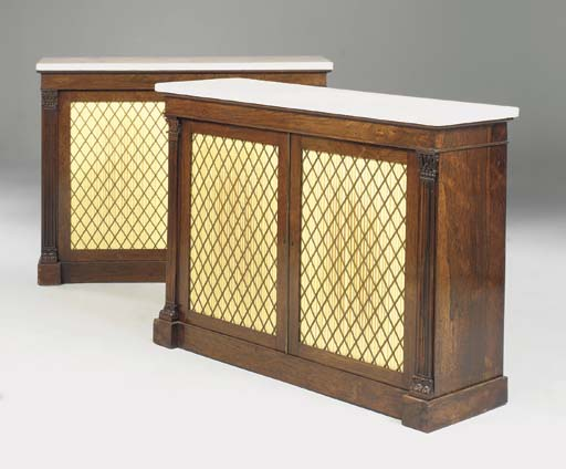 A PAIR OF GEORGE IV ROSEWOOD S