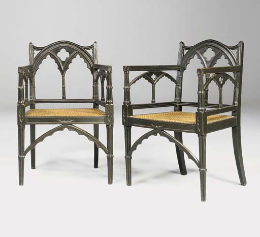 A PAIR OF LATE GEORGE III GOTH
