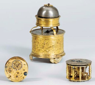 A German gilt-metal portable a