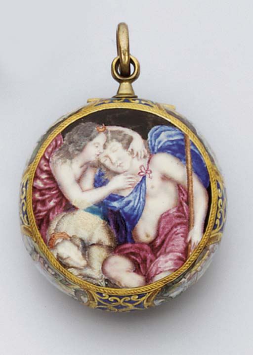 A CONTINENTAL ENAMELLED VERGE