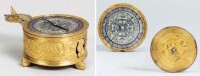 A German gilt-metal and enamel