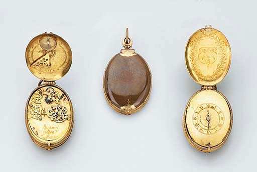 A French gilt-metal oval pre-h