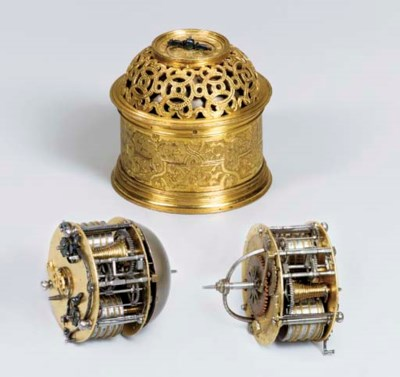 A French gilt-metal striking s