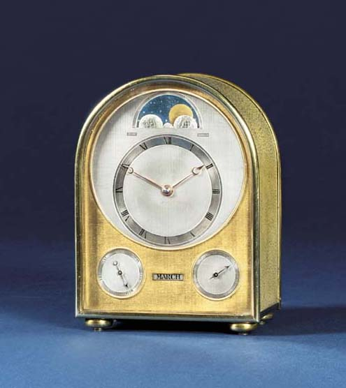 A Victorian silver-gilt and shagreen perpetual calendar travel timepiece with moonphase
