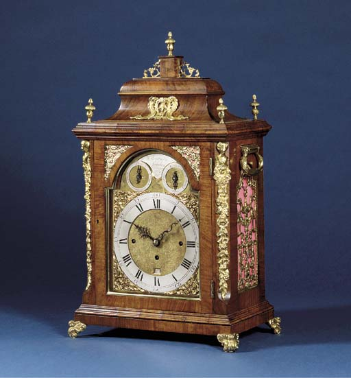 A George III walnut and gilt-b