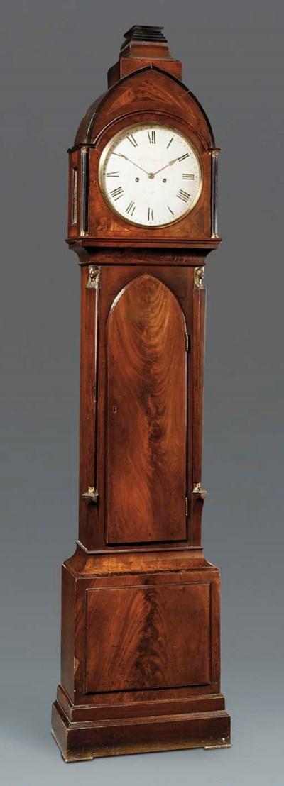 A Regency mahogany longcase cl