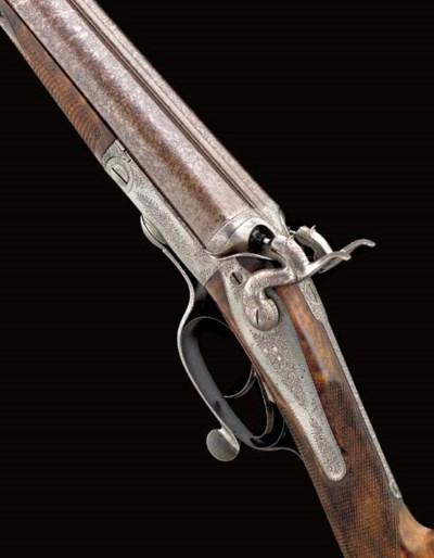 A 12-BORE HAMMER GUN BY J. WOO