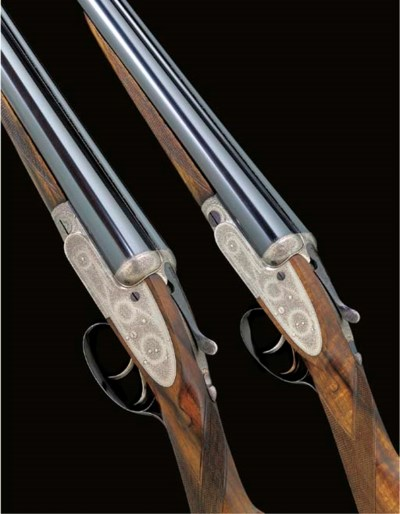 A PAIR OF 12-BORE (2¾IN) SELF-