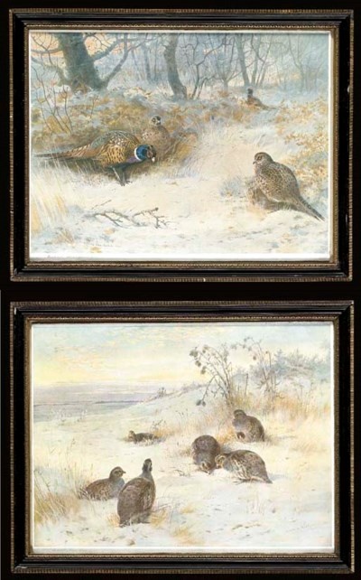 ARCHIBALD THORBURN A PAIR OF F