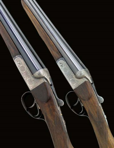 A PAIR OF 20-BORE BOXLOCK EJEC