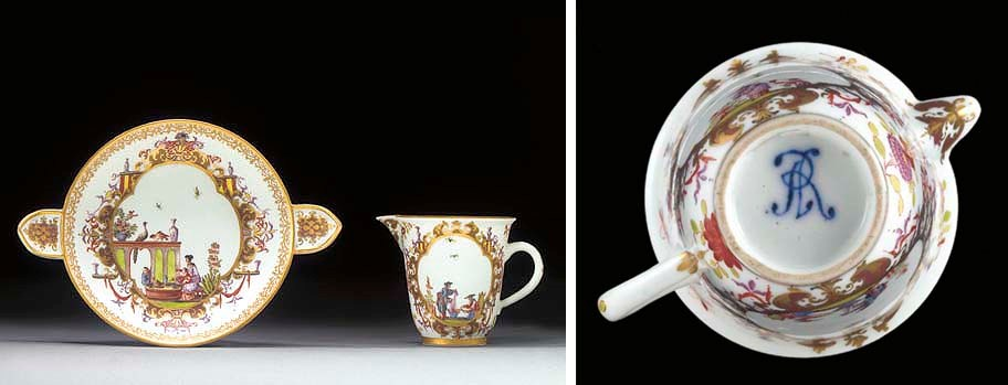 A Meissen chinoiserie jug and