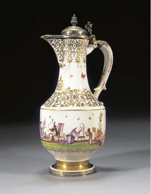 A Meissen Royal silver-gilt-mo