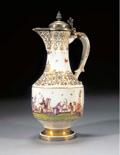 A Meissen Royal silver-gilt-mo