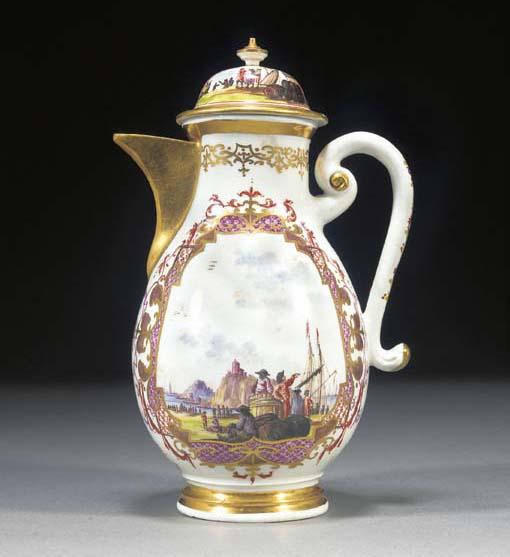 A Meissen baluster coffee-pot