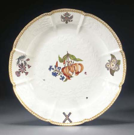 A Meissen armorial dish from t