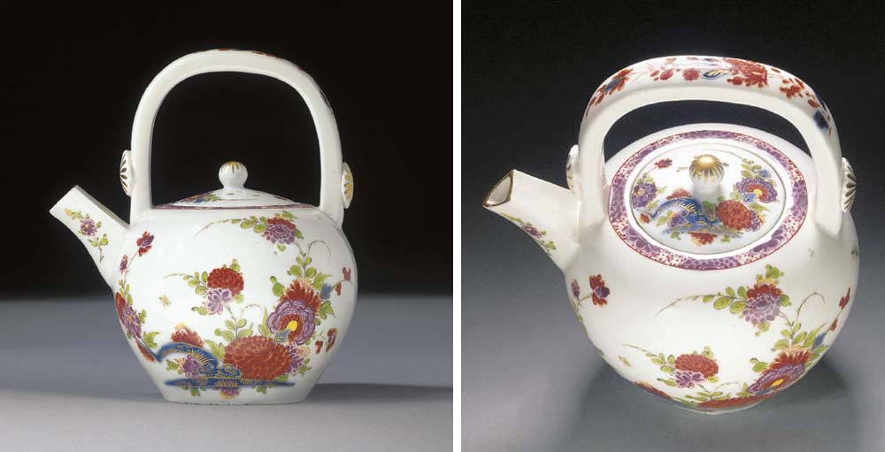 A Meissen Imari teapot and cover