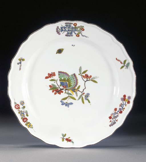 A Meissen shaped circular plat