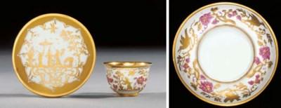 A Meissen Goldchinesen teabowl