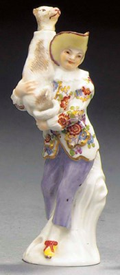 A Meissen scent-bottle and a s