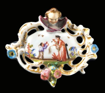 A pierced chinoiserie mount in