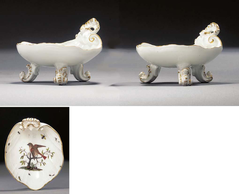 A pair of Meissen ornithologic