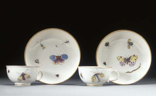 A Pair of Meissen teacups and