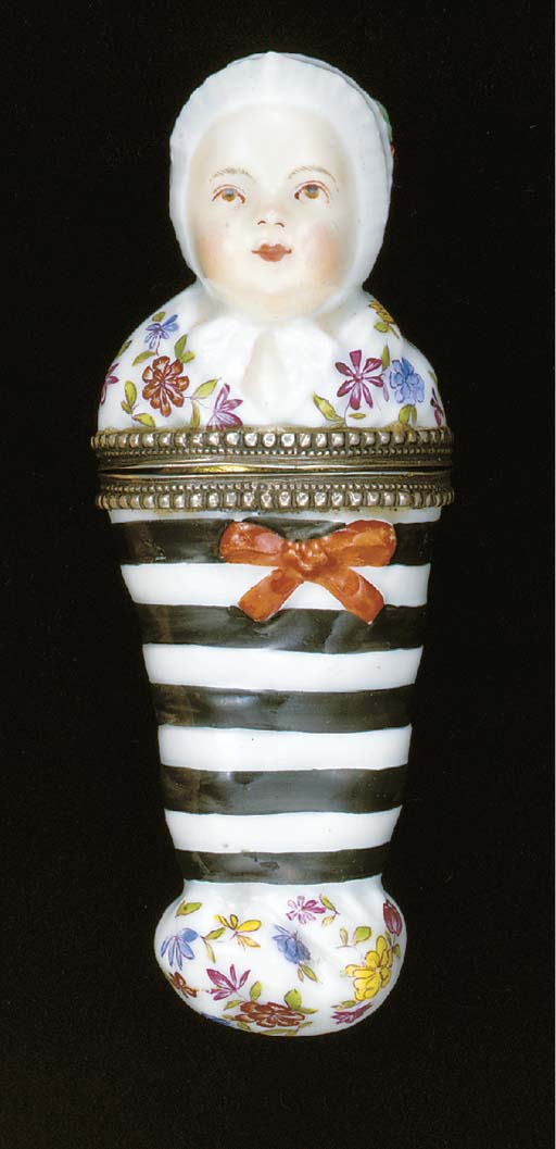 A German porcelain silver-gilt