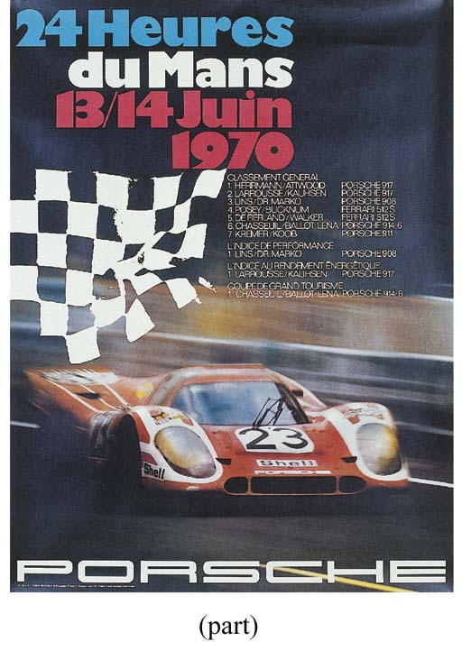 Porsche - four original poster