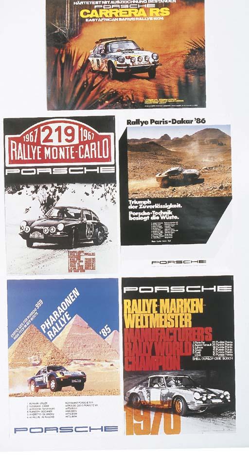 Porsche - five original Porsch