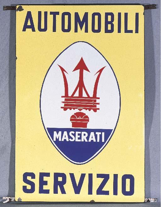 Maserati - An enamel advertisi
