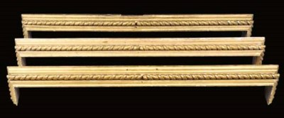 A SET OF THREE REGENCY GILTWOO