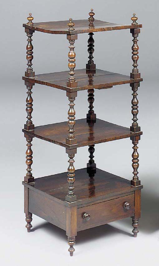 AN EARLY VICTORIAN ROSEWOOD WH
