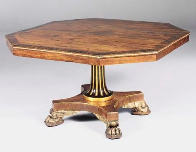 A ROSEWOOD AND PARCEL-GILT CEN