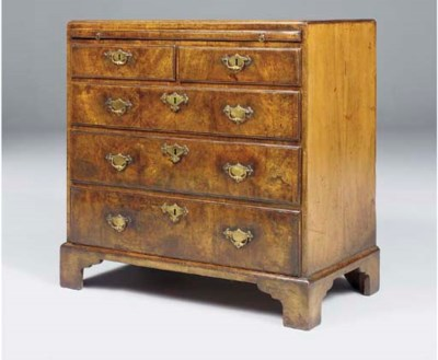 A GEORGE I WALNUT CHEST
