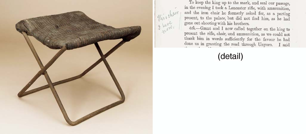 SPEKE'S STOOL GIVEN TO KING MT