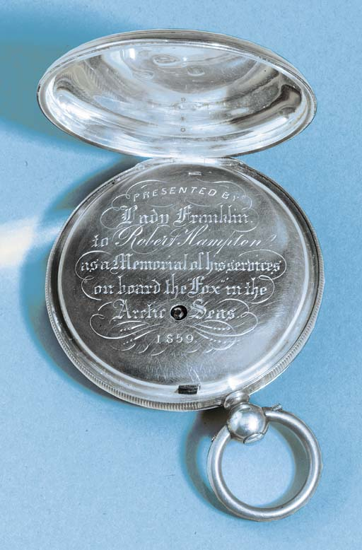 A SILVER HUNTING CASED POCKET