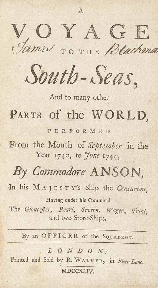 GEORGE ANSON, LORD ANSON (1697