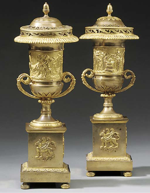 A pair of Louis-Philippe gilt-