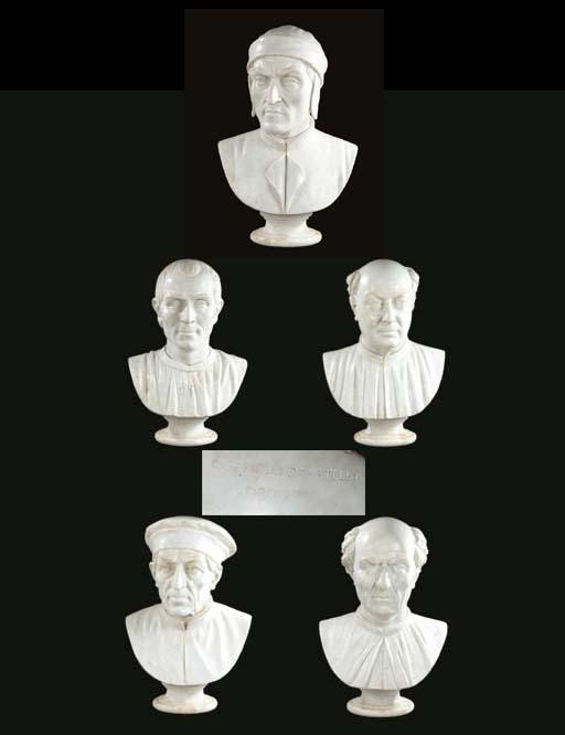 A set of five Italian white ma