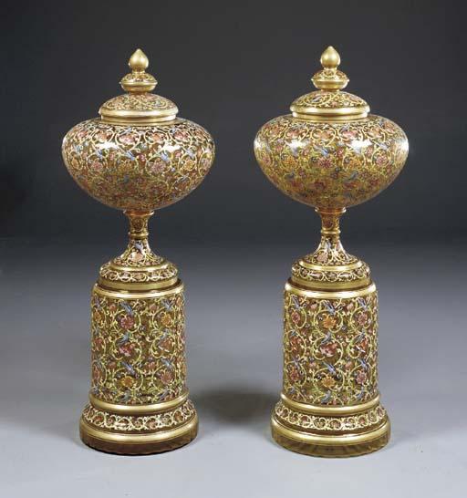 A pair of Austrian parcel-gilt