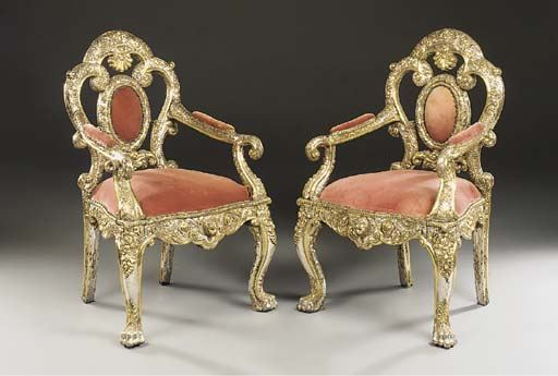 A pair of Anglo-Indian parcel-