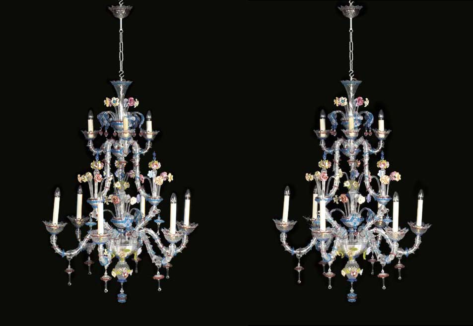 A pair of Venetian clear and c