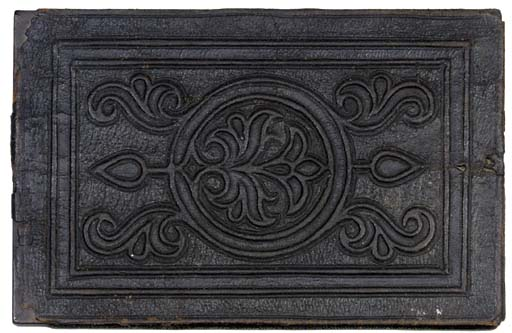 A TOOLED LEATHER BINDING