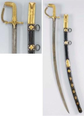 A GOLD MOUNTED SWORD (SHAMSHIR