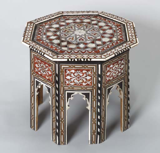 AN OTTOMAN MOTHER-OF PEARL AND